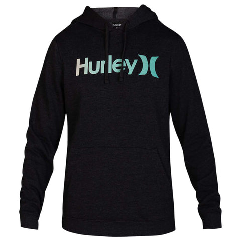HURLEY BOYS' ONE AND ONLY GRADIENT PULLOVER BLACK HEATHER