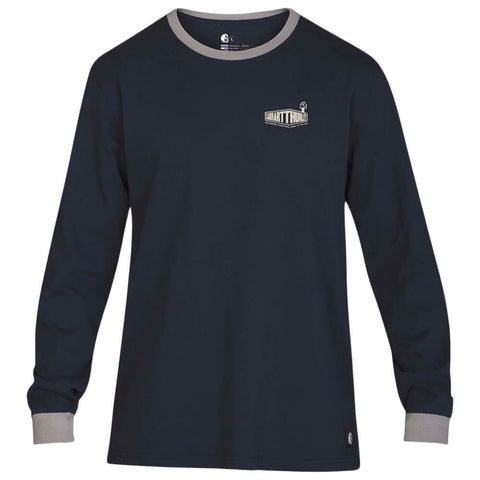 HURLEY MEN'S CARHARTT BFY RINGER LONG SLEEVE TOP OBSIDIAN