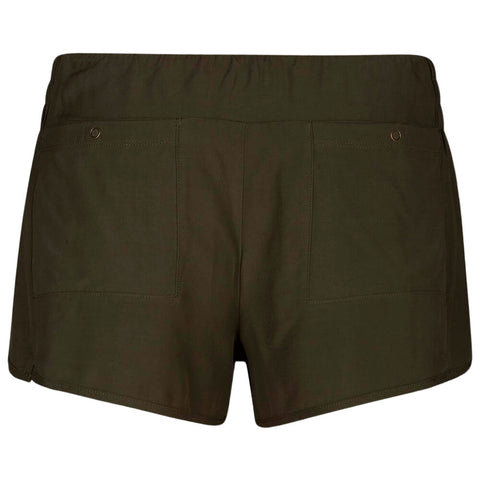 HURLEY WOMEN'S BEACH SHORT OLIVE CANVAS BACK