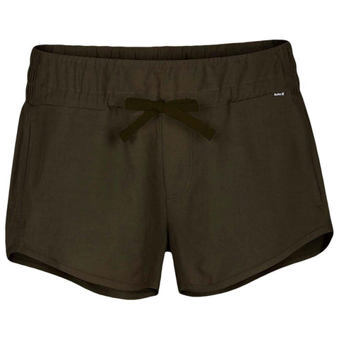 HURLEY WOMEN'S BEACH SHORT OLIVE CANVAS