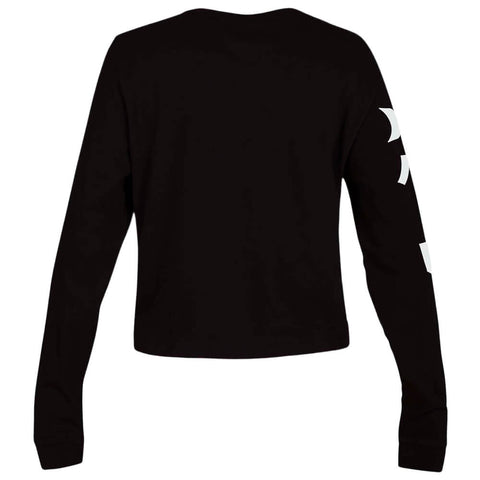 HURLEY WOMEN'S GLOBAL PERFECT LONG SLEEVE TOP BLACK BACK