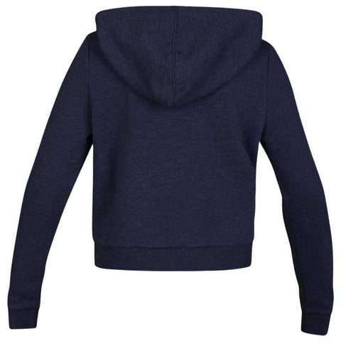 HURLEY WOMEN'S PERFECT FLEECE CROP PULLOVER HOODIE OBSIDIANHTHR BACK