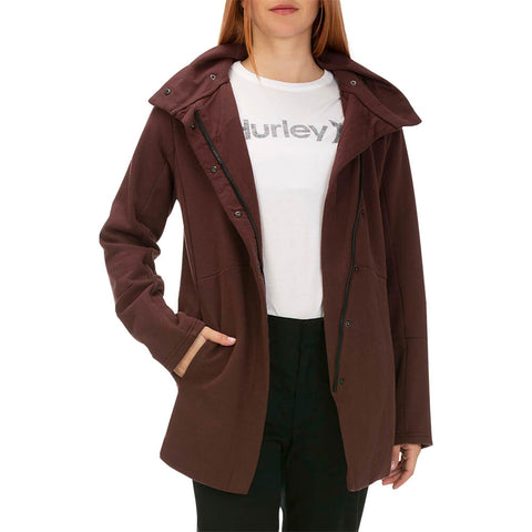 HURLEY WOMEN'S WINCHESTER FLEECE ZIP EL DORADO MODEL WITH JACKET UNZIPPED