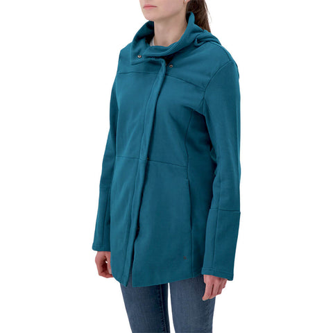 HURLEY WOMEN'S WINCHESTER FLEECE ZIP MIDNIGHT TURQUOISE
