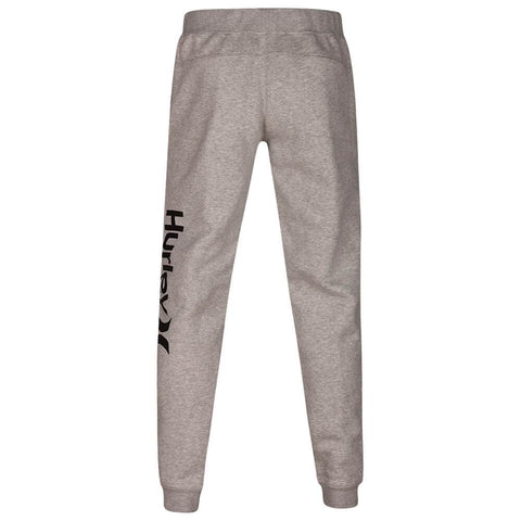 HURLEY BOYS' SURF CHECK ONE AND ONLY TRACK PANT DARK GREY HEATHER/BLACK