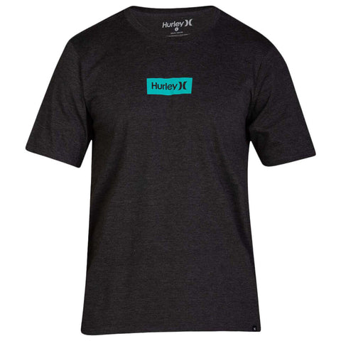 HURLEY BOYS' PREMIUM ONE AND ONLY SMALL BOX BLACK HEATHER/GREEN