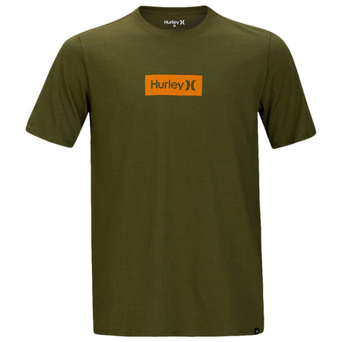 HURLEY BOYS' PREMIUM ONE AND ONLY SMALL BOX LEGION GREEN/SUNSET