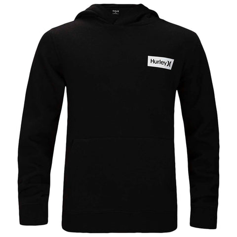 HURLEY BOYS' ONE AND ONLY BOXED FLASHBACK PULLOVER BLACK