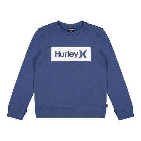 HURLEY BOYS' ONE AND ONLY BOXED CREW MYSTIC NAVY