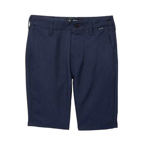 HURLEY BOYS' DRI FIT CHINO SHORT OBSIDIAN