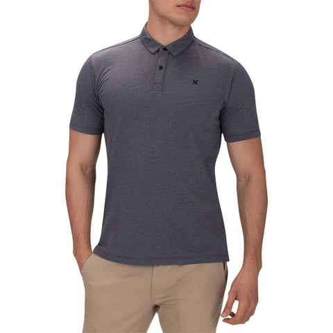 HURLEY MEN'S DRI FIT CORONADO SHORT SLEEVE POLO DARK CHARCOAL HEATHER MODEL