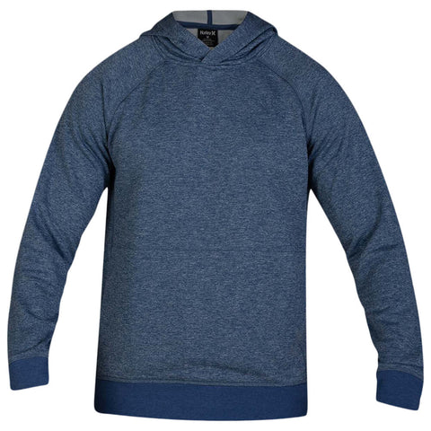 HURLEY MEN'S DRI FIT DISPERSE PULLOVER MYSTIC NAVY HEATHER