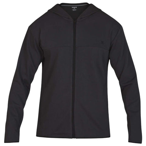 HURLEY MEN'S DRI FIT NATURALS FLEECE FULLZIP OFF NOIR