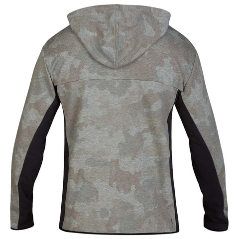 HURLEY MEN'S DRI FIT NATURALS FLEECE FULLZIP CAMO GREEN BACK