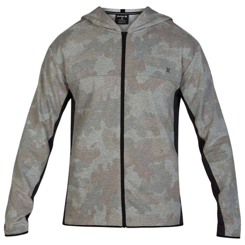 HURLEY MEN'S DRI FIT NATURALS FLEECE FULLZIP CAMO GREEN
