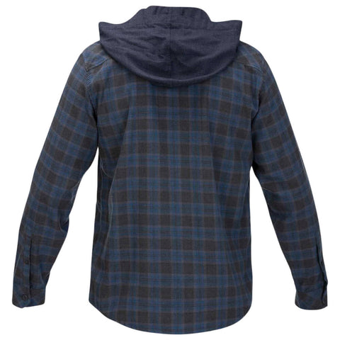 HURLEY MEN'S CROWLEY WASHED HOODED LONG SLEEVE TOP OBSIDIAN BACK