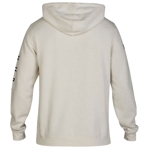 HURLEY MEN'S FRAGMENT PULLOVER FLEECE LIGHT BONE BACK