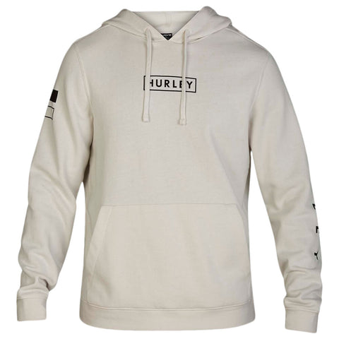 HURLEY MEN'S FRAGMENT PULLOVER FLEECE LIGHT BONE