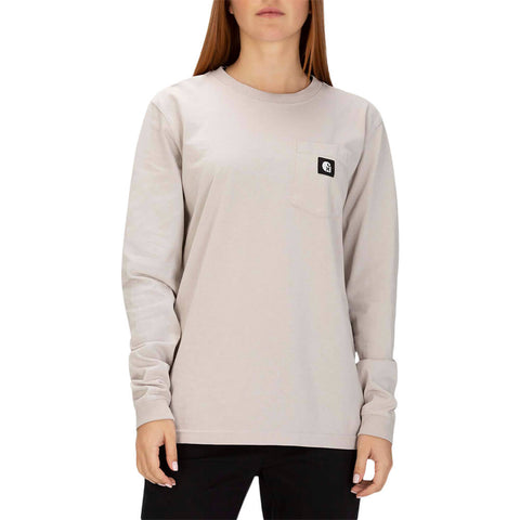 HURLEY WOMEN'S CARHARTT LONG SLEEVE LT OREWOOD BRN MODEL