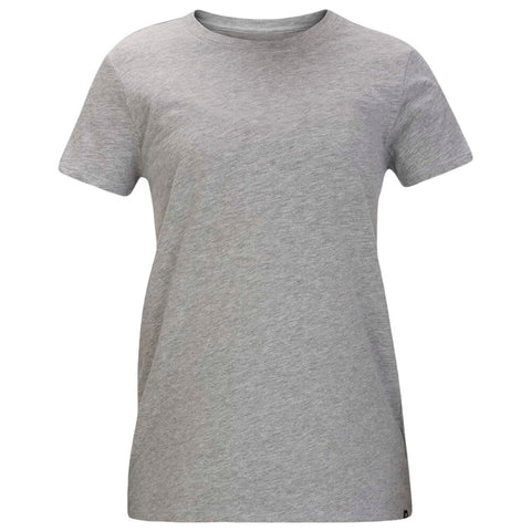 HURLEY WOMEN'S SOLID PERF CREW TEE SHORT SLEEVE TOP GREY HEATHER