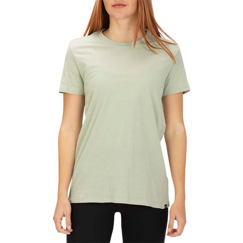 HURLEY WOMEN'S SOLID PERF CREW TEE SHORT SLEEVE TOP JADE HORIZON MODEL