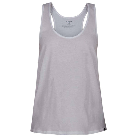 HURLEY WOMEN'S SOLID PERFECT TANK WHITE