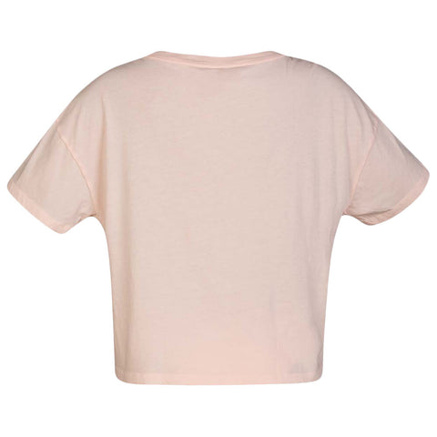 HURLEY WOMEN'S FLOUNCY TEE SHORT SLEEVE TOP ECHO PINK