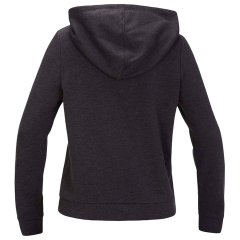 HURLEY WOMEN'S PERFECT FLEECE PULLOVER HOODIE OIL GREY HEATHER BACK