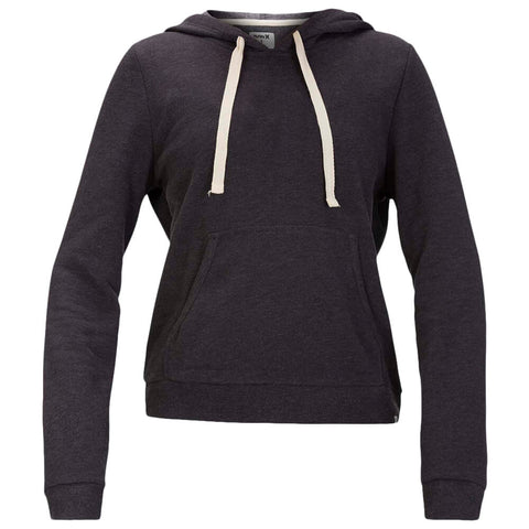 HURLEY WOMEN'S PERFECT FLEECE PULLOVER HOODIE OIL GREY HEATHER