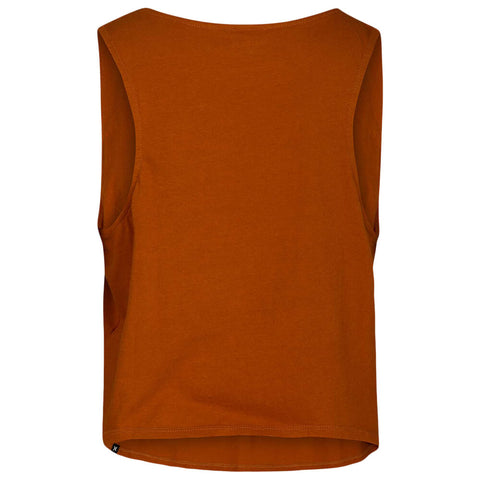 HURLEY WOMEN'S SOLID FLOUNCY TANK BURNT SIENNA BACK