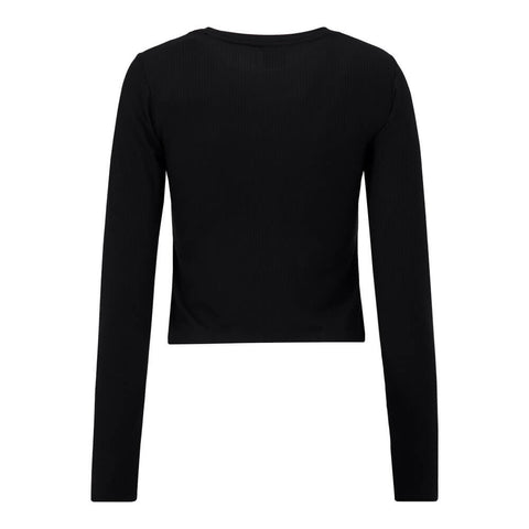 HURLEY WOMEN'S BABY LONG SLEEVE TEE BLACK