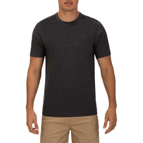 HURLEY MEN'S PREMIUM STAPLE SHORT SLEEVE TOP BLACK HEATHER/WADE DWYANE MODEL