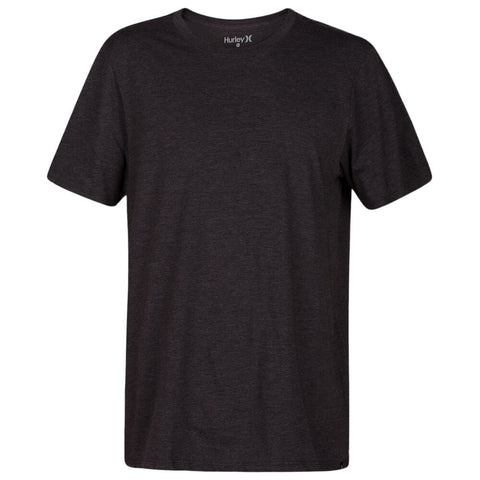 HURLEY MEN'S PREMIUM STAPLE SHORT SLEEVE TOP BLACK HEATHER/WADE DWYANE
