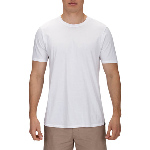 HURLEY MEN'S PREMIUM STAPLE SHORT SLEEVE TOP WHITE/WAKE CAMERON MODEL