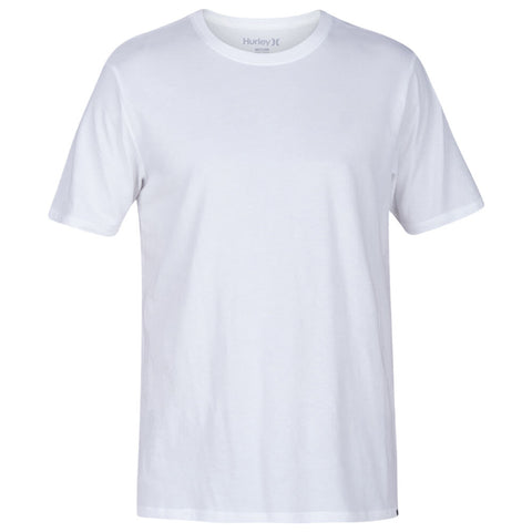 HURLEY MEN'S PREMIUM STAPLE SHORT SLEEVE TOP WHITE/WAKE CAMERON