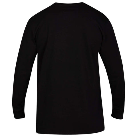 HURLEY MEN'S CORE ONE AND ONLY BOXED LONG SLEEVE TOP BLACK/WHITE/GOLD BACK