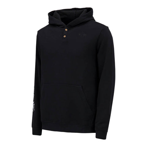 HURLEY MEN'S SIG ZANE PULLOVER FLEECE TOP BLACK