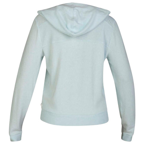 HURLEY WOMEN'S CHILL FLEECE PULLOVER TOPAZ MIST BACK