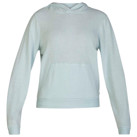 HURLEY WOMEN'S CHILL FLEECE PULLOVER TOPAZ MIST