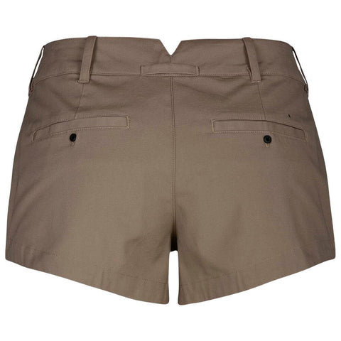 HURLEY WOMEN'S LOWRIDER CHINO SHORT KHAKI BACK