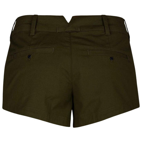 HURLEY WOMEN'S LOWRIDER CHINO SHORT OLIVE CANVAS BACK
