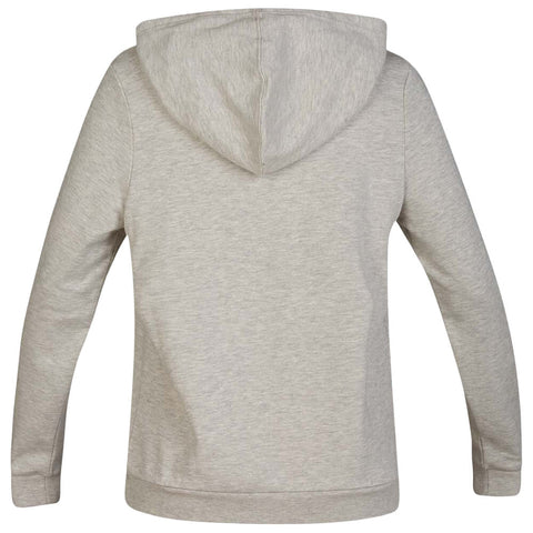 HURLEY WOMEN'S ONE AND ONLY FLEECE PULLOVER LONG SLEEVE TOP GREY HEATHER BACK