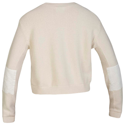 HURLEY WOMEN'S SWEATER WEATHER SWEATER PALE IVORY BACK