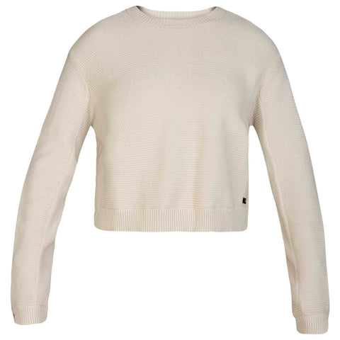 HURLEY WOMEN'S SWEATER WEATHER SWEATER PALE IVORY
