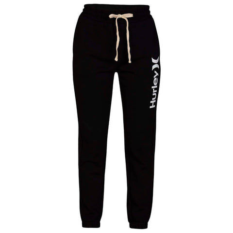 HURLEY WOMEN'S ONE AND ONLY FLEECE JOGGER BLACK/WHITE