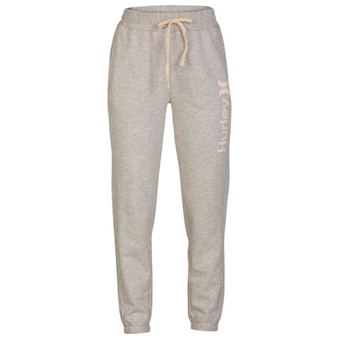HURLEY WOMEN'S ONE AND ONLY FLEECE JOGGER GREY HEATHER