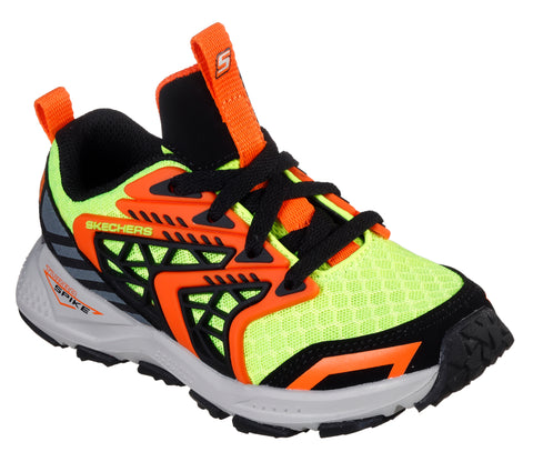 SKECHERS BOYS PRE-SCHOOL TURBO SPIKE-ASTROZONE KIDS SHOE ORANGE/YELLOW/BLACK