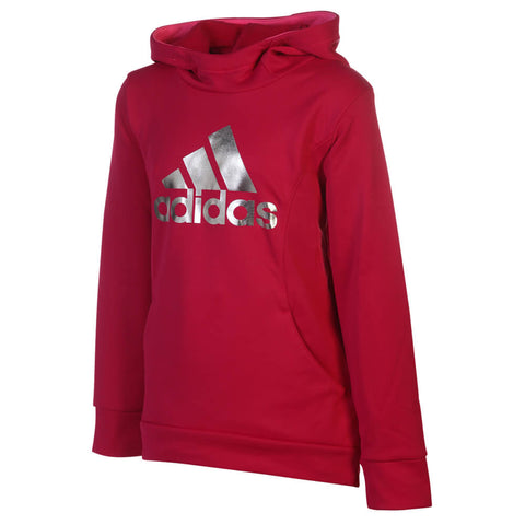 ADIDAS GIRLS PERFORMANCE HOODY DARK PINK