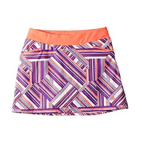 ADIDAS GIRLS' PRINT SKORT RED ZEST