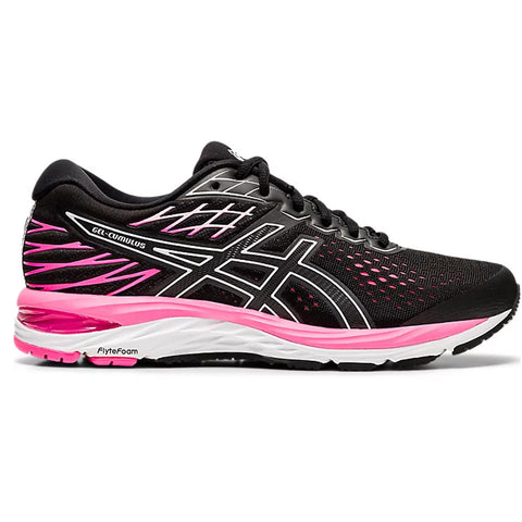 ASICS WOMEN'S GEL CUMULUS 21 RUNNING SHOE BLACK/PINK